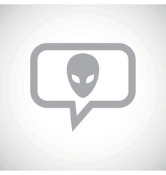 Alien grey message icon vector image vector image