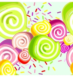 Colorful candies background vector image