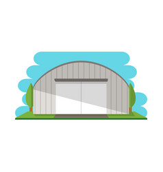 Modern storage terminal isolated icon vector