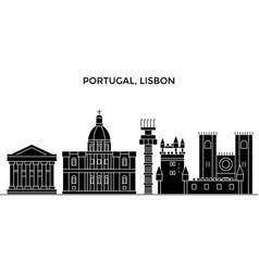 portugal lisbon architecture city skyline vector image