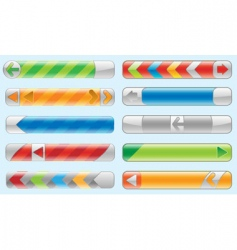 shiny internet buttons set vector image