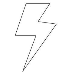 symbol electricity the black color icon vector image vector image
