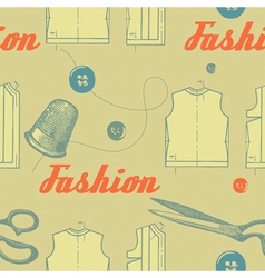 Vintage Fashion Clothing Pattern vector image
