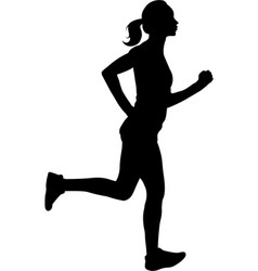 woman running silhouette vector image