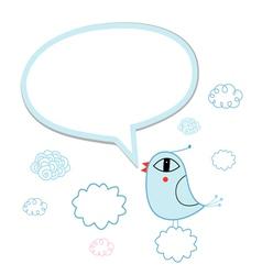 a talking bird vector image vector image