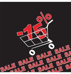 Big sale 15 percentage discount vector