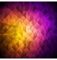 Grunge hi-tech colorful design vector image vector image