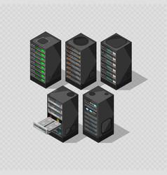 hardware isometric equipment 3d telecommunication vector image