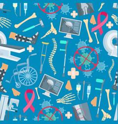 medicine surgery health seamless pattern vector image vector image
