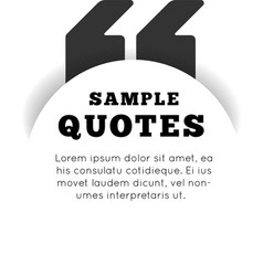 Quote blank template on white background vector image vector image