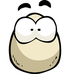 cartoon doodle egg with eyes vector image