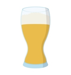 Glass of beer cartoon icon vector image