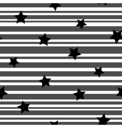 Line and star seamless pattern 3910 vector image vector image
