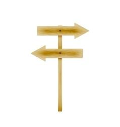 wooden direction arrows vector image vector image