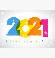 2021 new year card vector