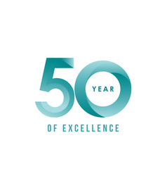 50 year excellence template design vector