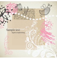 Abstract collage vector