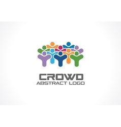 Abstract logo for business company Crowd society vector image