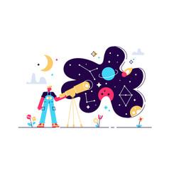Astronomy flat tiny vector