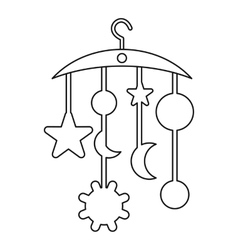 Baby bed carousel icon outline style vector