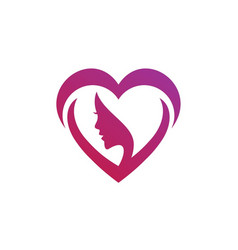 beauty love logo template vector image