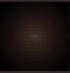 black brick wall background in gradient vector image