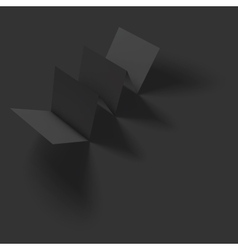 Blank folded paper brochure mockup vector image
