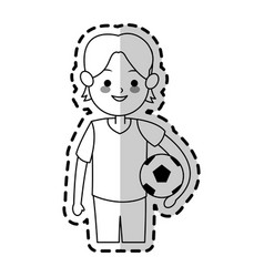 boy cute cartoon icon image vector image