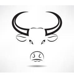 Bull icon vector