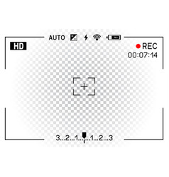 Camera viewfinder transparent background vector