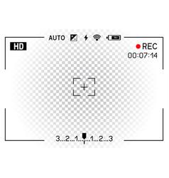 camera viewfinder transparent background vector image
