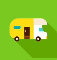 camping trailer object icon vector image