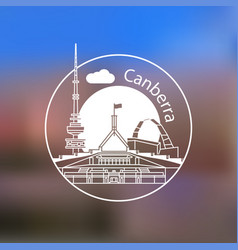 canberra australia detailed silhouette trendy vector image