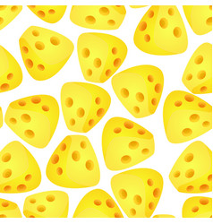 cheese flat design modern style colorful seamless vector image