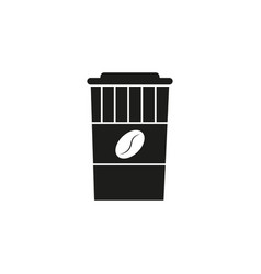 coffee black cup icon vector image