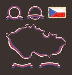 colors czech republic vector image