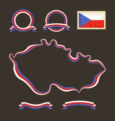 Colors of Czech Republic vector image