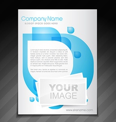 Company flyer brochure poster template vector