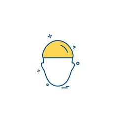 construction man work labour icon vector image
