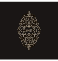 Cosmetics Monogram vector