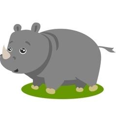 Cute Safari Rhino Isolated vector image