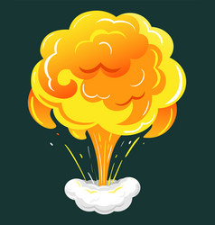 Dynamite burst or bomb explosion visual effect vector