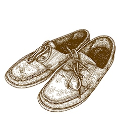 Engraving shoes vector