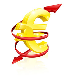 euro exchange rate concept vector image