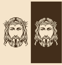 Face lord and savior jesus christ vector