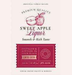 Family recipe apple liquor acohol label abstract vector