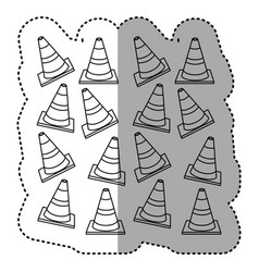 Figure traffic cones background icon vector