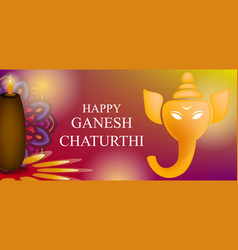 Ganesh chaturthi card background design with vector