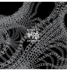 Grunge parametric structure design vector image