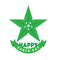 happy earth day april 22 graphic poster with star vector image